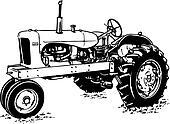 Clip Art of heavy, equipment, machine, machinery, farm