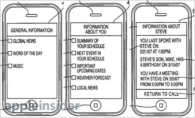 Apple's call waiting system displays customizable