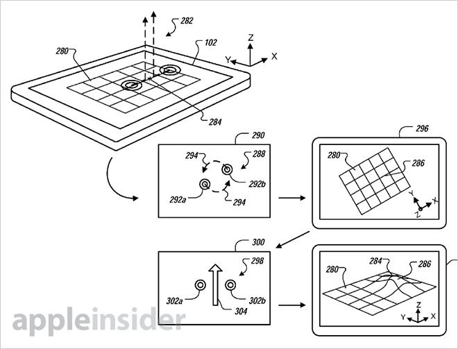 Apple patents 3D gesture UI for iOS based on proximity