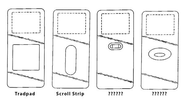 Apple filings reveal potential iPod redesigns