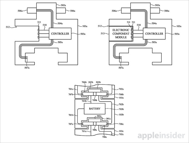 Apple invents modular Apple Watch accessories that link