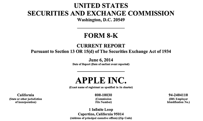 apple increases issued shares