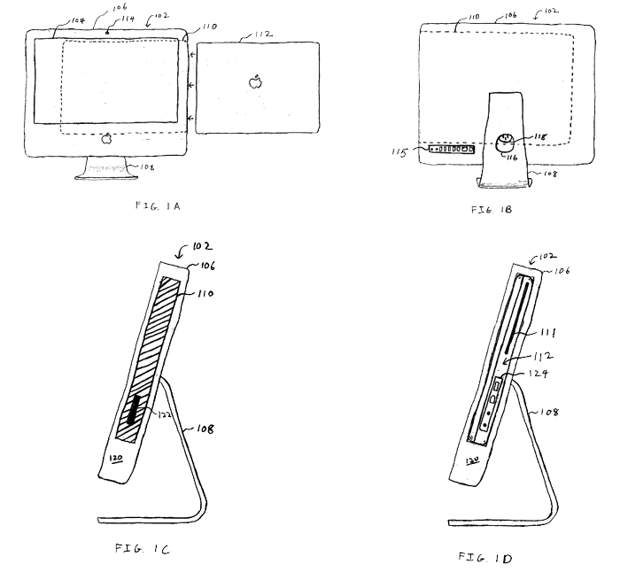 Apple filing proposes iMac-like notebook docking station