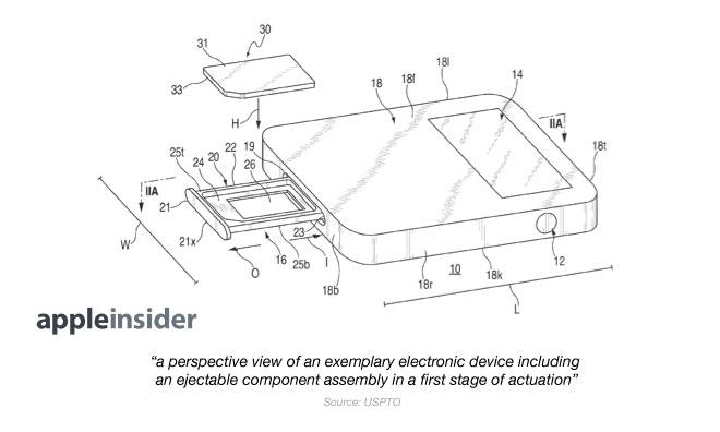 sim card reader circuit diagram 95 ford ranger wiring apple patent application shows off space saving magnetically magnetic tray