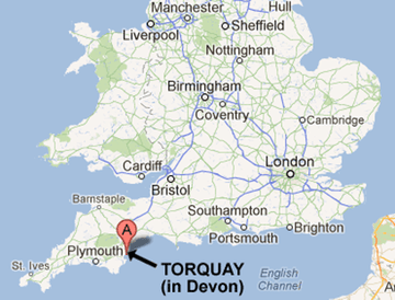 Image result for torquay map