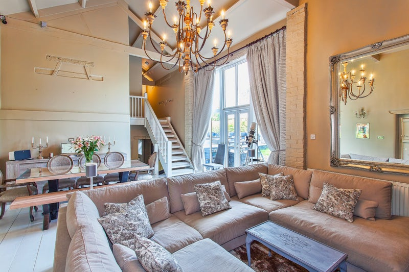 luxury living room navy sofa to rent from spareroom click zoom main