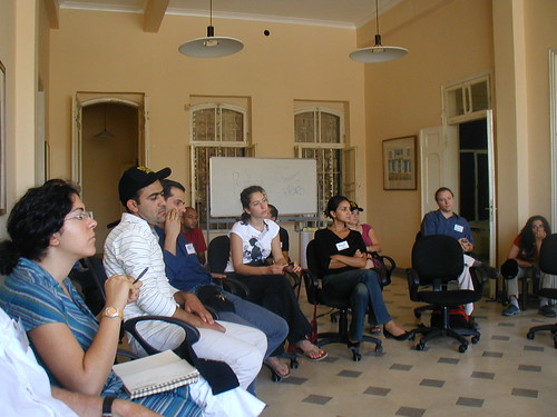 Some of the class attending the first Jordanian Film Commission/USC Workshop