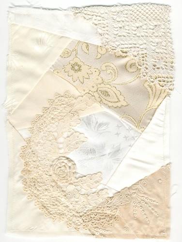 Cream quilt block