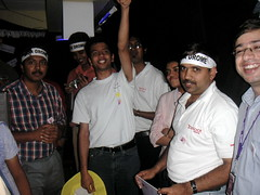 Data Applications Group in a victory celebration