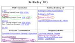 Berkeley DB 주요 문서