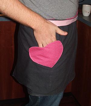 heart apron pocket