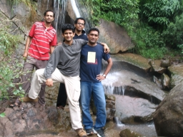 A waterfall in ourway to Srinagar