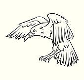 Malvorlage rabe fliegt Coloring and Malvorlagan