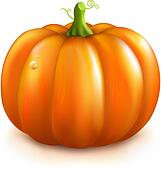 clip art of orange pumpkin k7711397