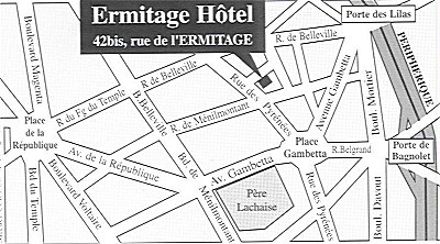 Hotel ERMITAGE, Paris 20e Arrondissement, France