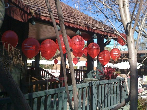 Red Balloons at Wellness Community
