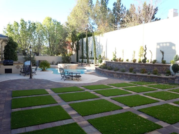 Turf Pavers Backwards Grass Green Tile Backyard Landscaping Outside Patio Swimming Pool Interior Design Exteriors Home Decor