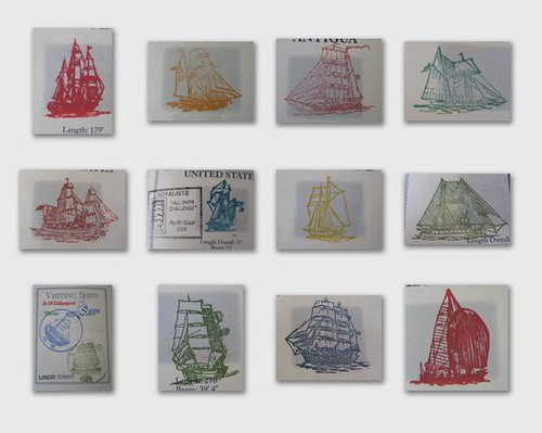 stamps of tall ships