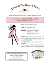 Lunch and Designer Bag Bingo Fundraiser, Springfield, VA ...