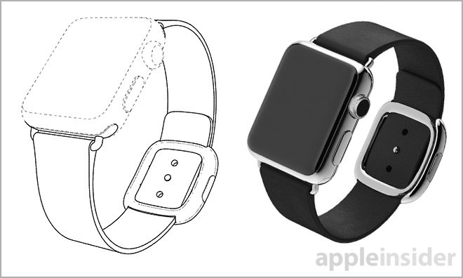 Apple Watch band with modern buckle detailed in newly granted patent | Appleinsider
