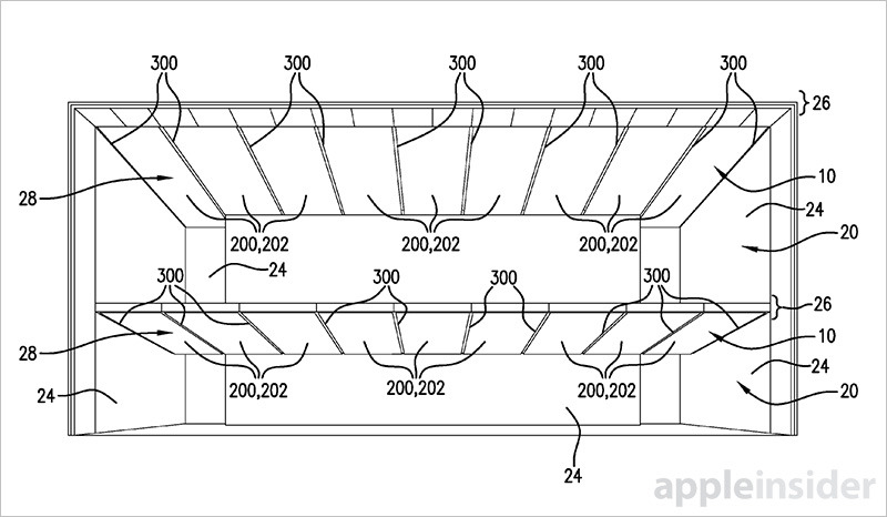 Apple patent details smart ceiling lighting used in next