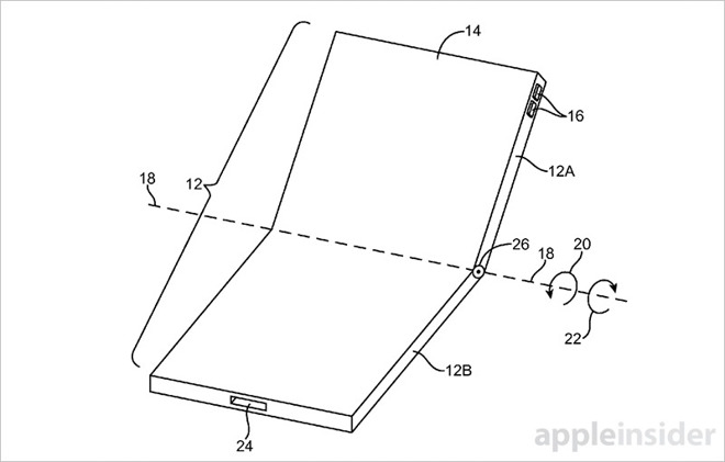 Apple patents foldable iPhone with flexible display that