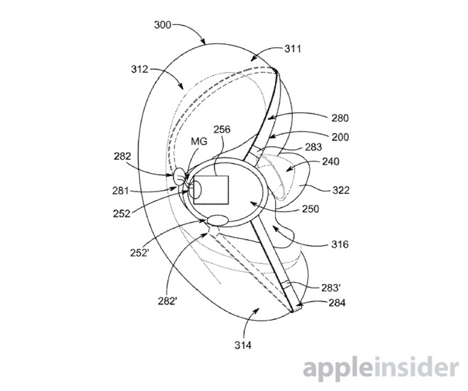 Apple filing shows initial stab at AirPods with magnetic