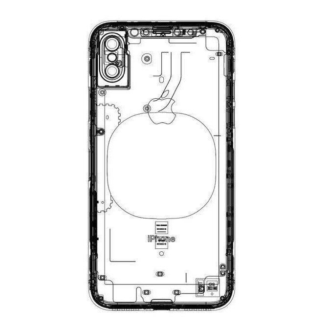 Alleged 'iPhone 8' schematic shows wireless charging pad