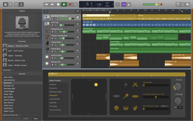 GarageBand for Mac update adds Touch Bar support more