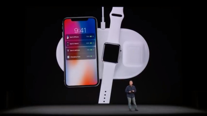 Phil Schiller previews the AirPower wireless charging pad in September 2017