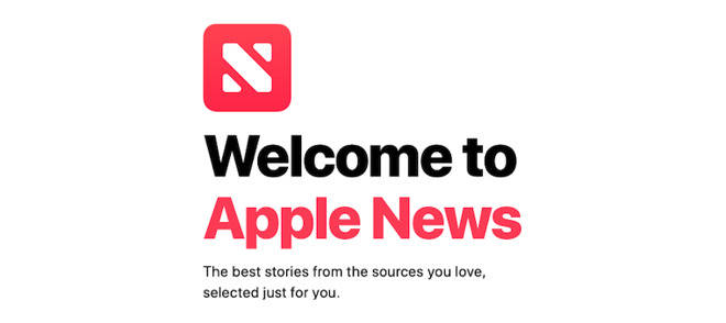 Apple's News app on Mac