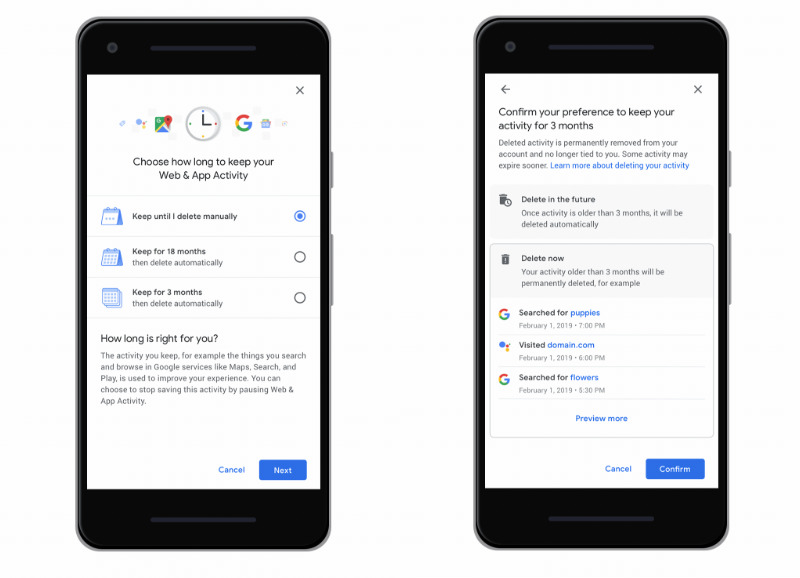 Google adding automatic deletion option for Location