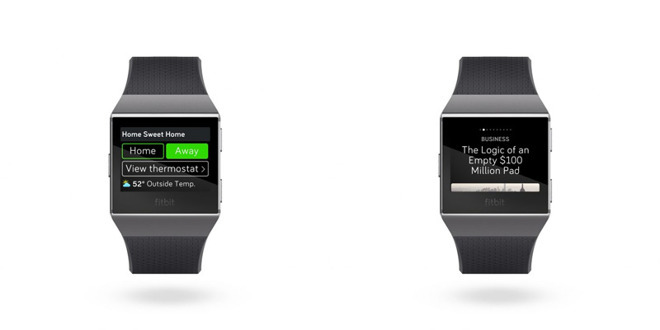 Certain Fitbit devices have companion iOS apps