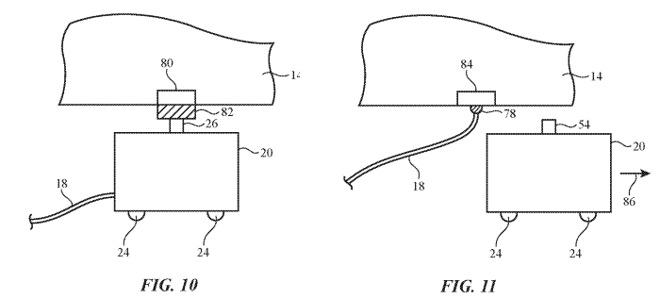 Примеры контактной системы зарядки и отложения шнура