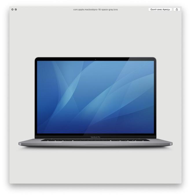 Alleged 16-inch MacBook Pro image in macOS 10.15.1 Catalina beta 2