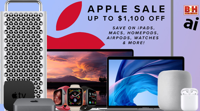 Apple product family with deals on Macs, iPads, AirPods, Apple Watches, Mac Pro