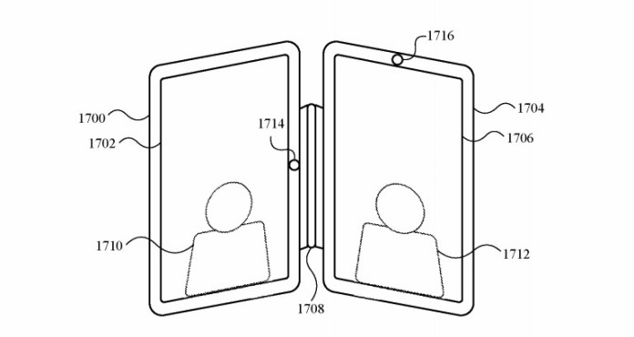 The hinge could allow for two similar-sized devices to work in a book-style layout.