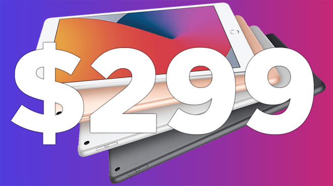 New iPad 8th Gen on sale for $299 at Amazon
