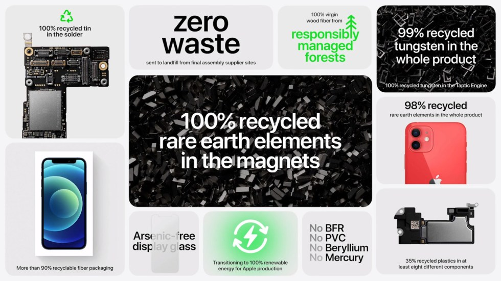 Apple's recycling efforts, as pointed out during the