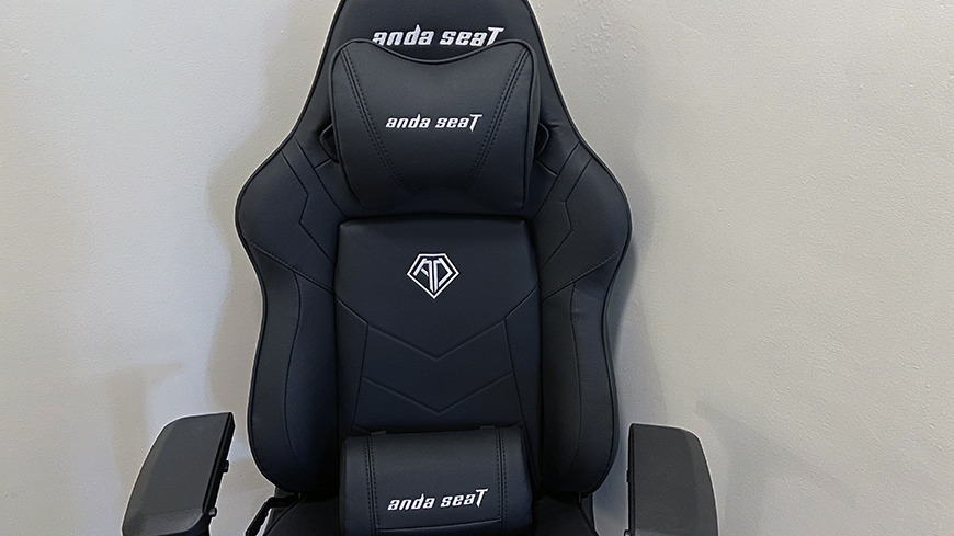 The chair with included pillows