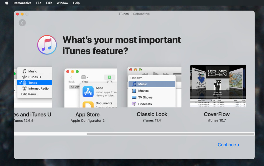 There are many older versions of iTunes to choose from