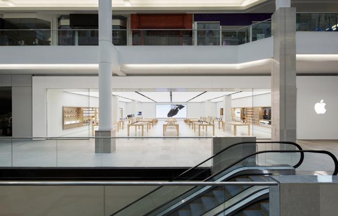 The Cambridgeside Apple Store in Cambridge, Mass.