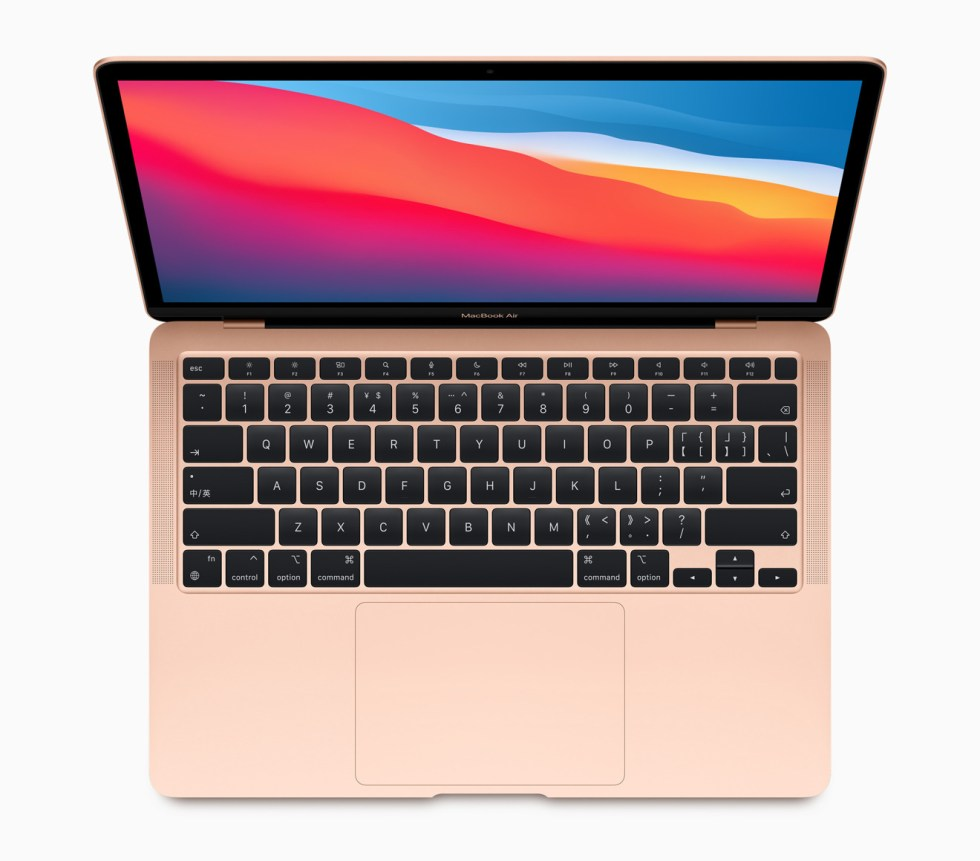 The Magic Keyboard and its scissor mechanism are retained in the new MacBook Air.