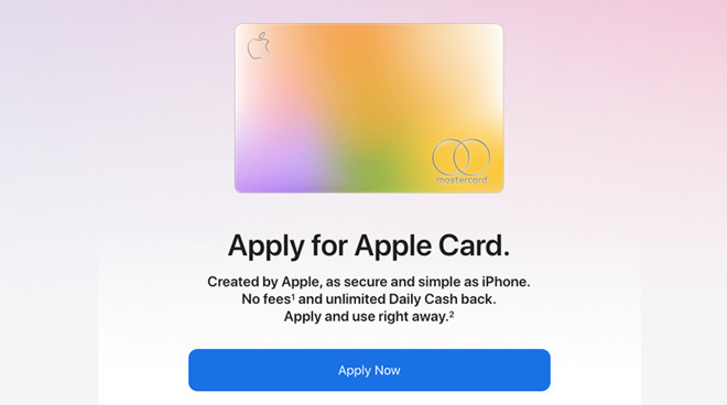 Customers can now apply for the Apple Card on the web
