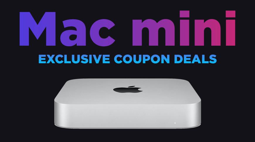 New Mac mini with Apple M1 processor coupon