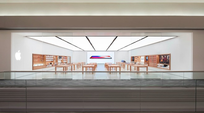 The Apple Store in Schaumburg, Ill.