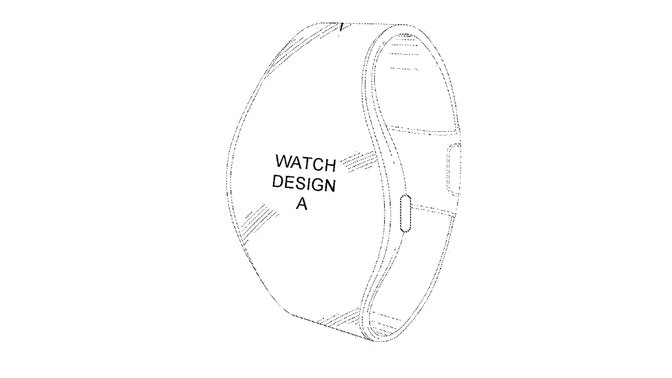 Not so much a round Apple Watch, as one with a display that reaches up into the band