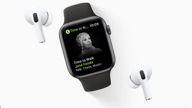 Jane Fonda on Apple Watch's Time to Walk series