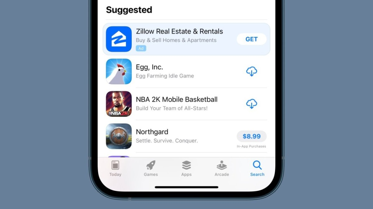 App Store Suggested apps will now have in-line ads