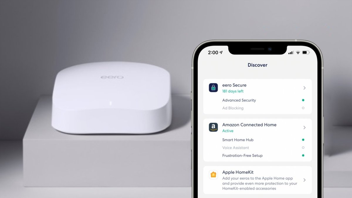 Eero's new HomeKit support for Wi-Fi 6 mesh routers